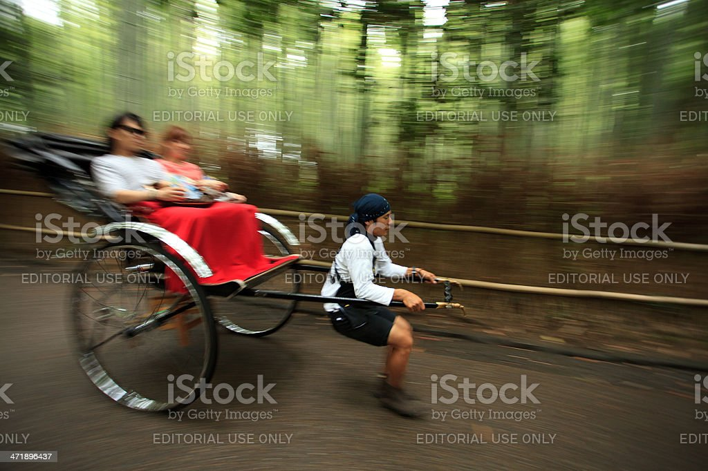 Rickshaw in action royalty-free stock photo