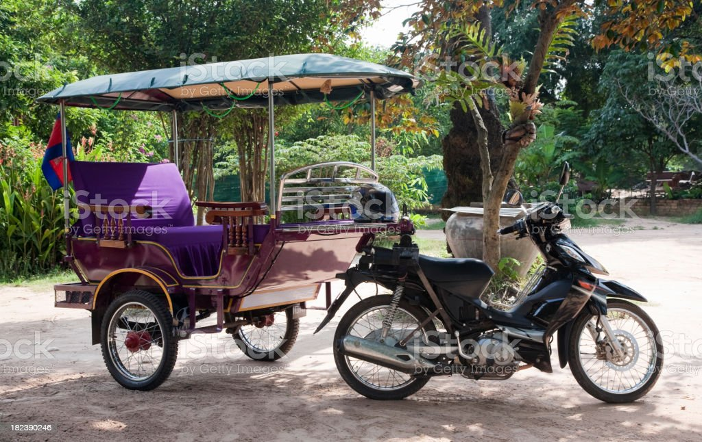 Rickshaw in Cambodia royalty-free stock photo