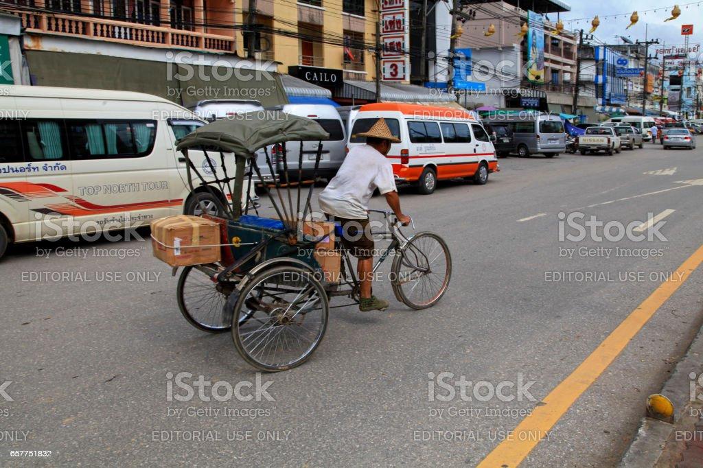 Rickshaw in Thailand stock photo
