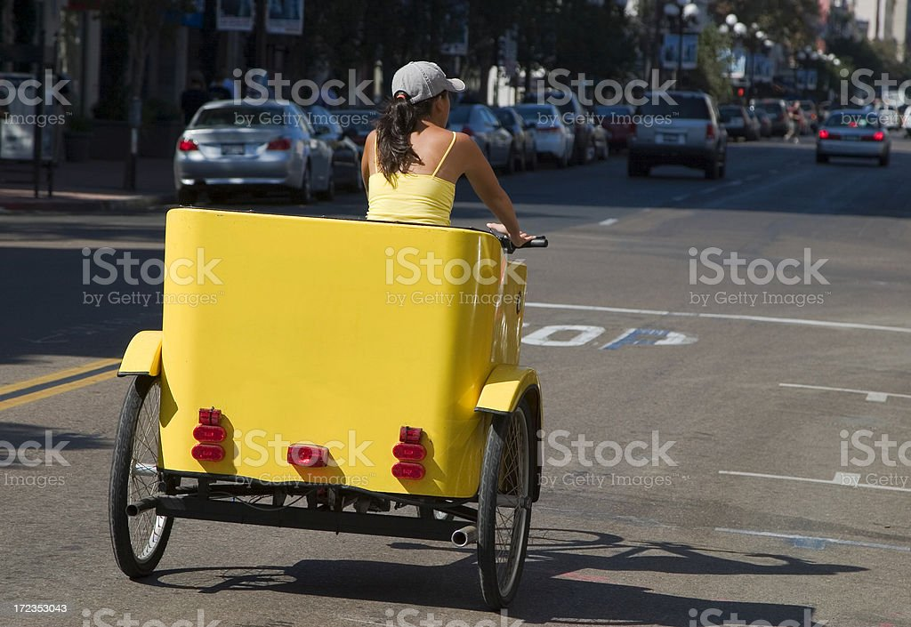 rickshaw - San Diego royalty-free stock photo