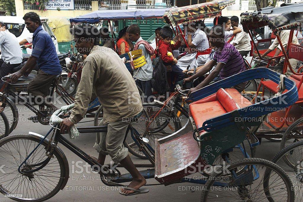 Rickshaws in New Delhi royalty-free stock photo