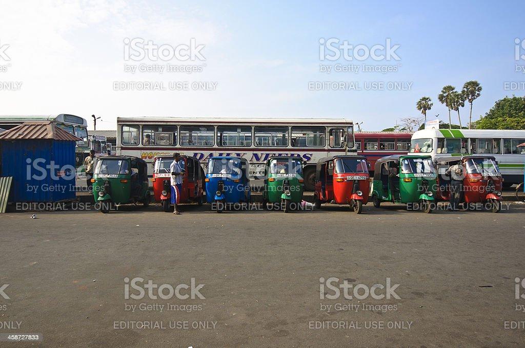 Rickshaws in Sri Lanka royalty-free stock photo