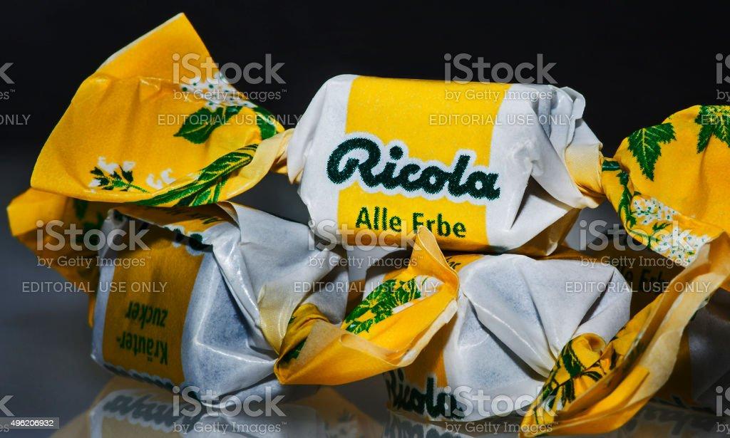 Ricola Natural Herb Cough Drops stock photo