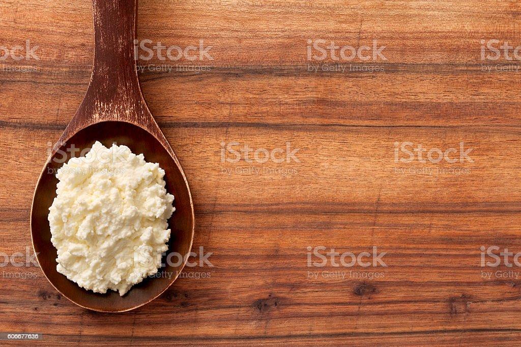 Ricotta cheese stock photo