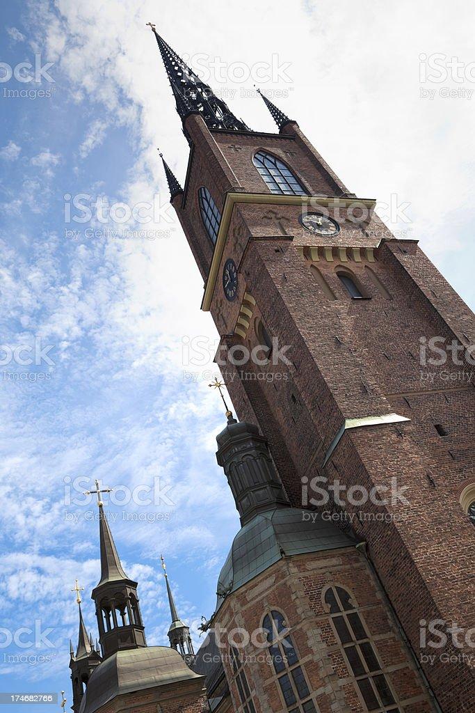 Riddarholmen Church tower royalty-free stock photo