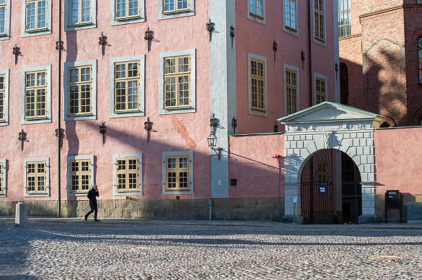 Riddarholmen in Stockholm stock photo