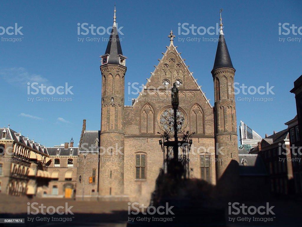 Ridderzaal In The Binnenhof Dutch Parliament Building stock photo