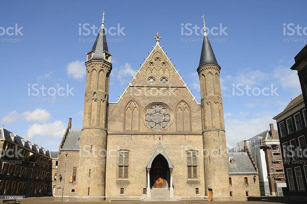 Ridderzaal in the Binnenhof royalty-free stock photo