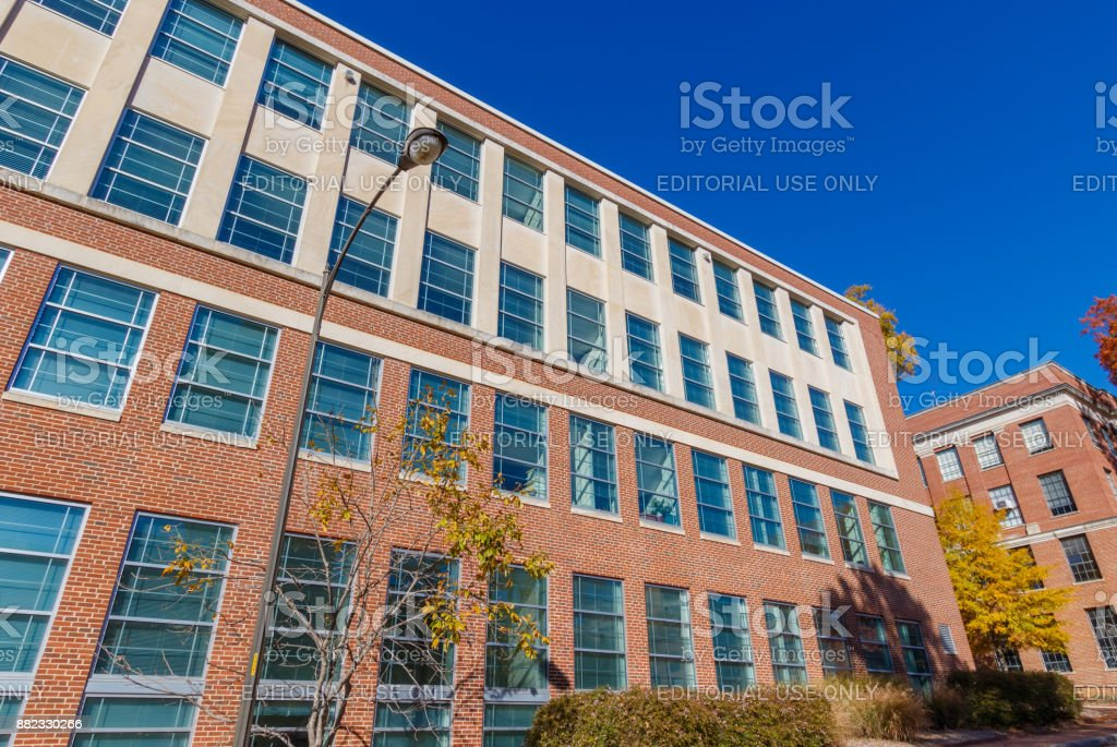 Riddick Hall and Daniels Hall at NC State University stock photo