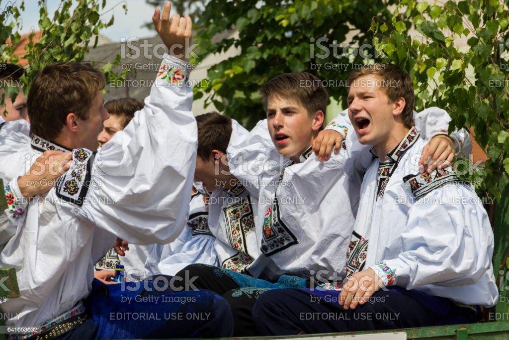 Ride of the King festival, Vlcnov stock photo
