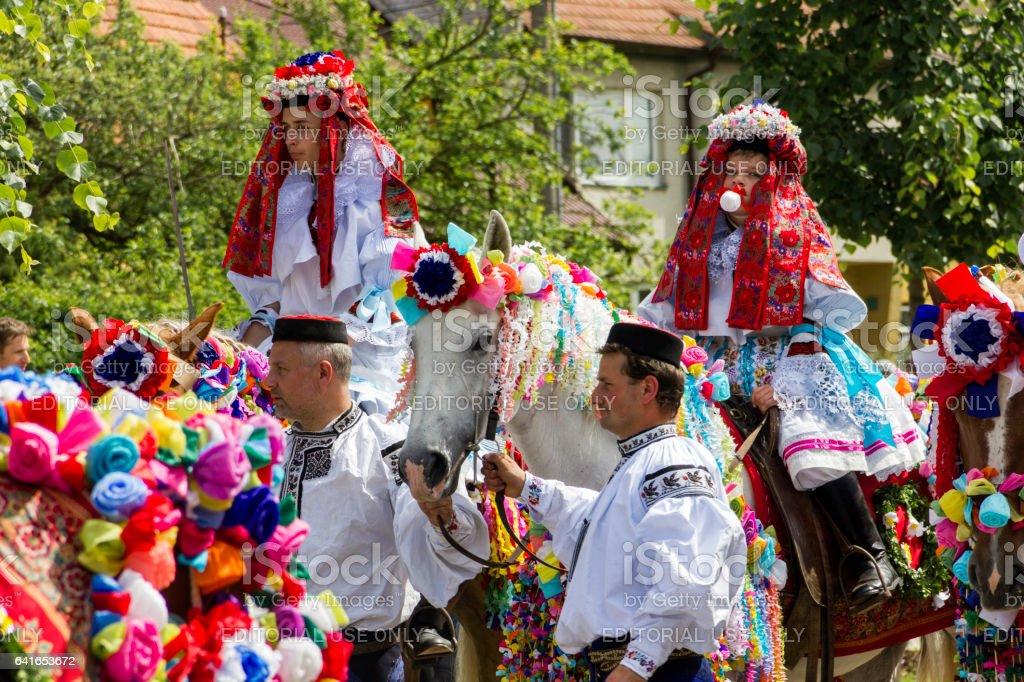 Ride of the Kings festival, Vlcnov stock photo