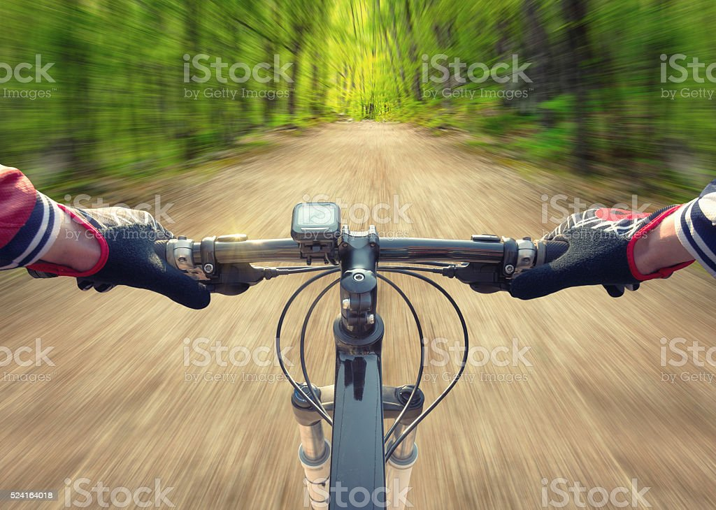Ride on bicycle stock photo