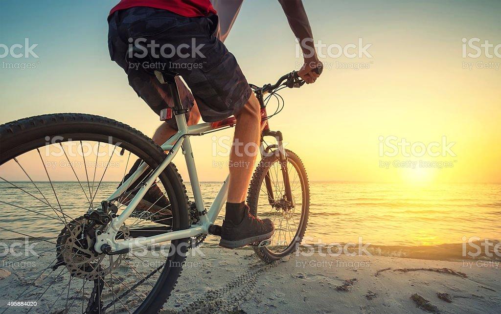Ride on bike stock photo
