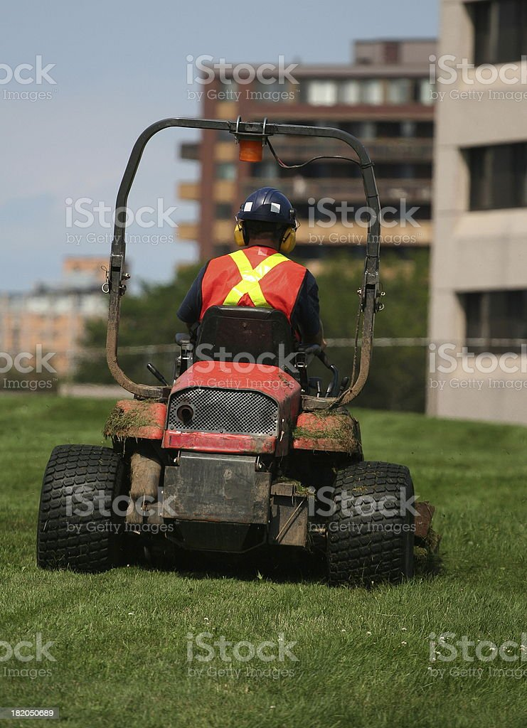 Ride on Mower royalty-free stock photo
