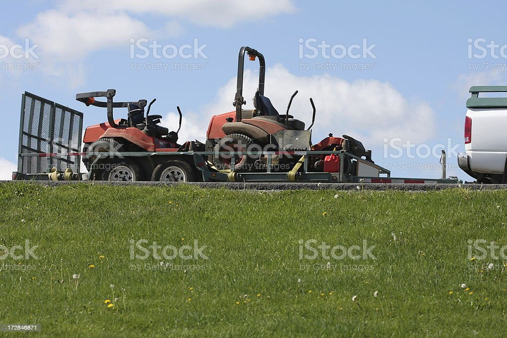 Ride On Mowers royalty-free stock photo