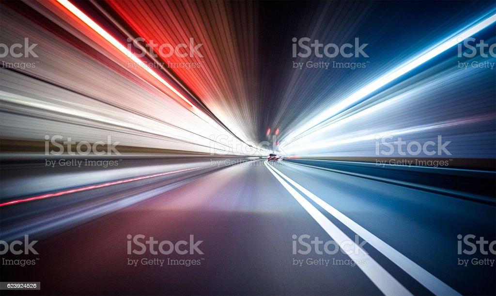 Ride on the night by car in New york city - Lizenzfrei Aktivitäten und Sport Stock-Foto