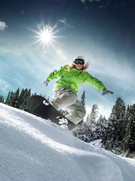 ride - lake tahoe winter stock-fotos und bilder