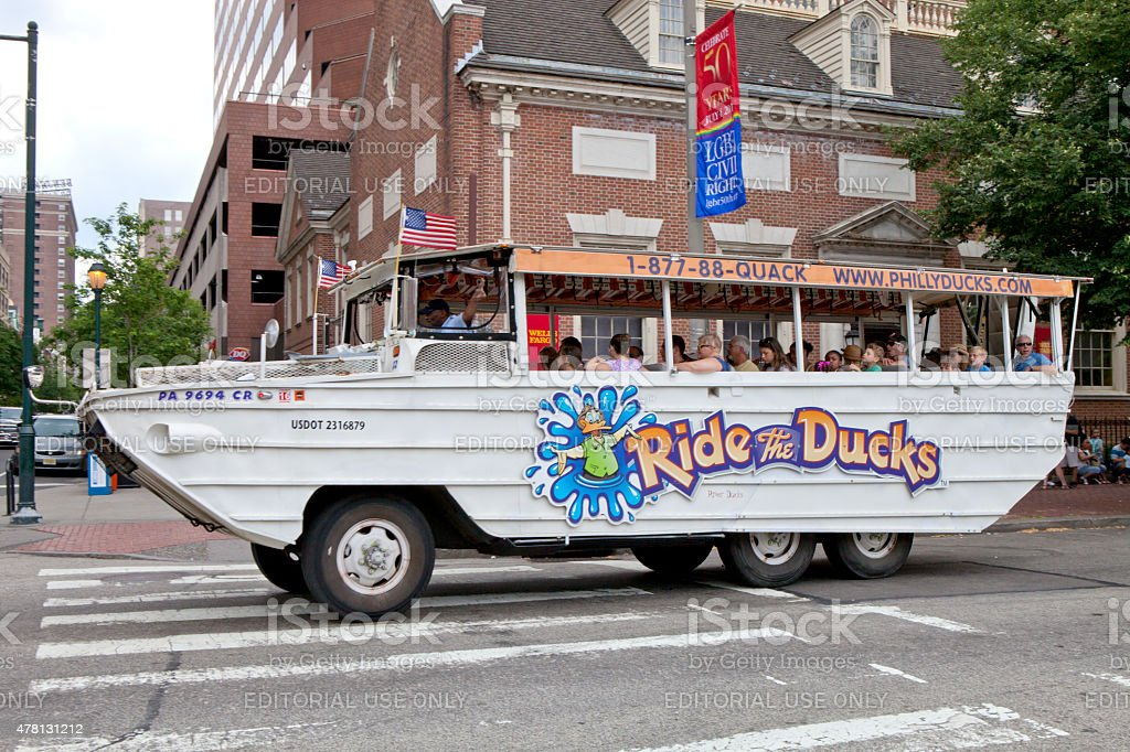 Ride The Ducks - Philadelphia, Pennsylvania stock photo