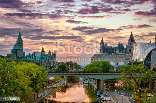 istock Rideau Canal at Sunset 472209533