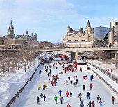 istock Rideau Canal Ice Skating Rink in winter, Ottawa 1129426091