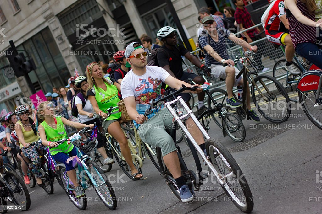 RideLondon Cycling Event - London 2015 stock photo