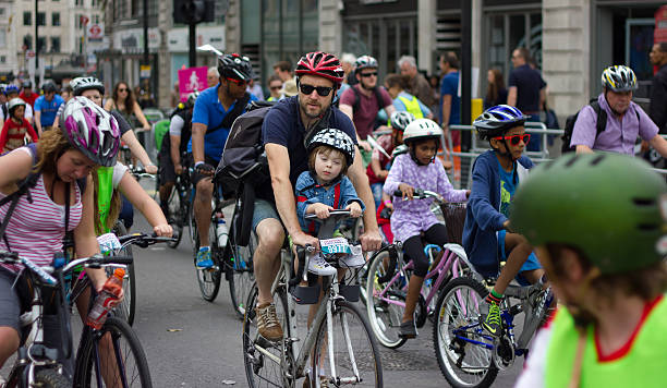 RideLondon Cycling Event - London 2015 stock photo