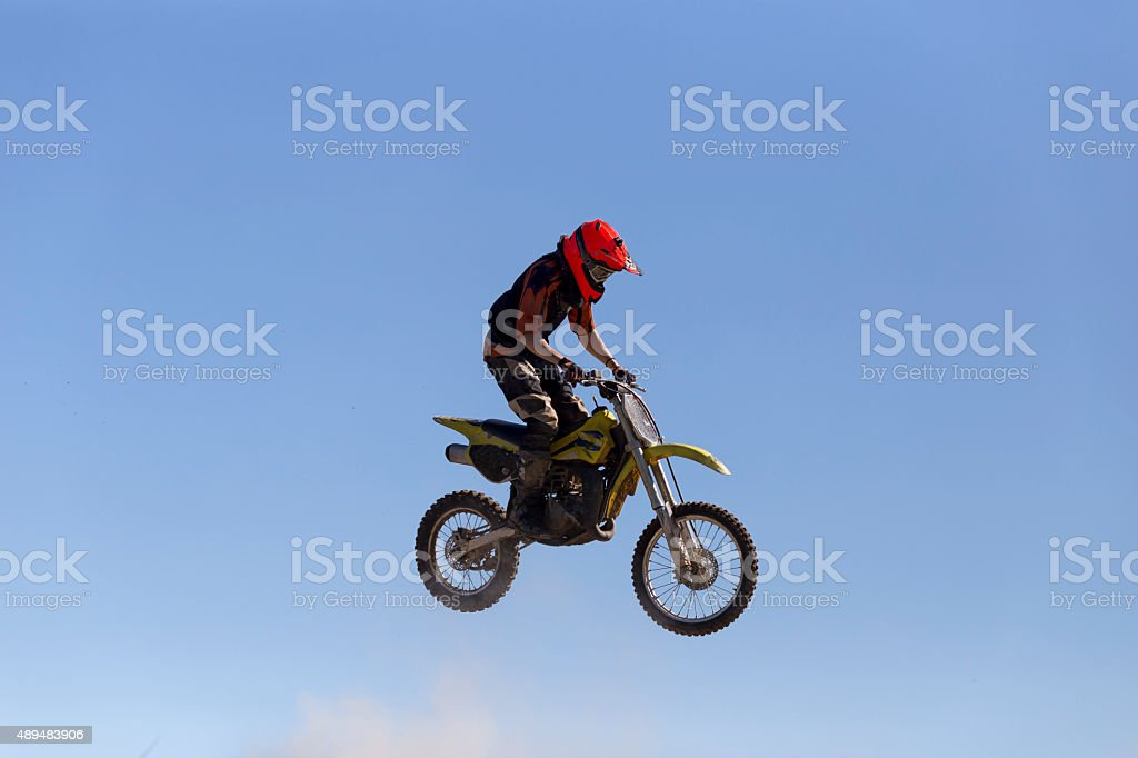 Rider and cloud stock photo