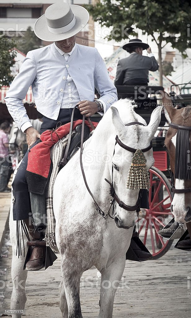 Rider in Seville royalty-free stock photo