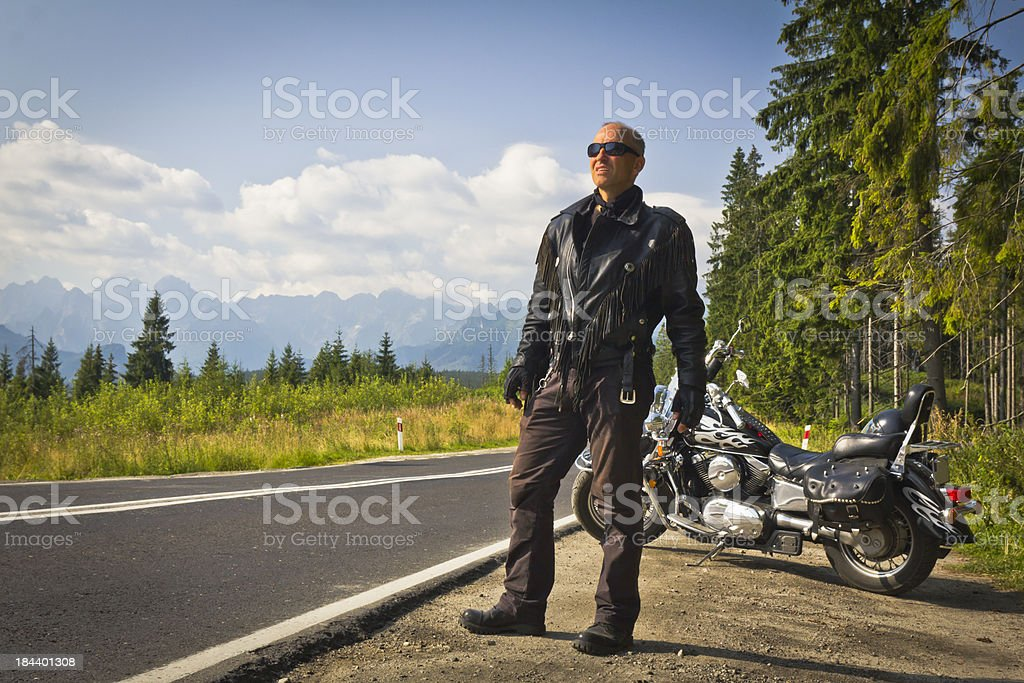 Rider in the Mountains royalty-free stock photo