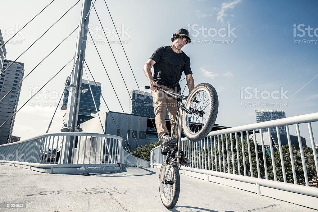 Bmx rider jump