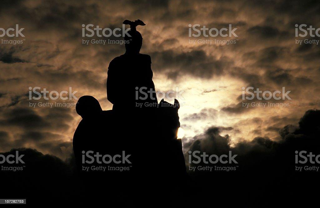 Rider of the Apocalypse stock photo