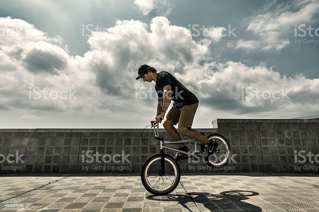 Bmx city stunt