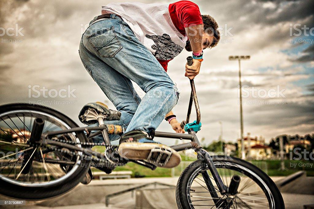 BMX rider in action