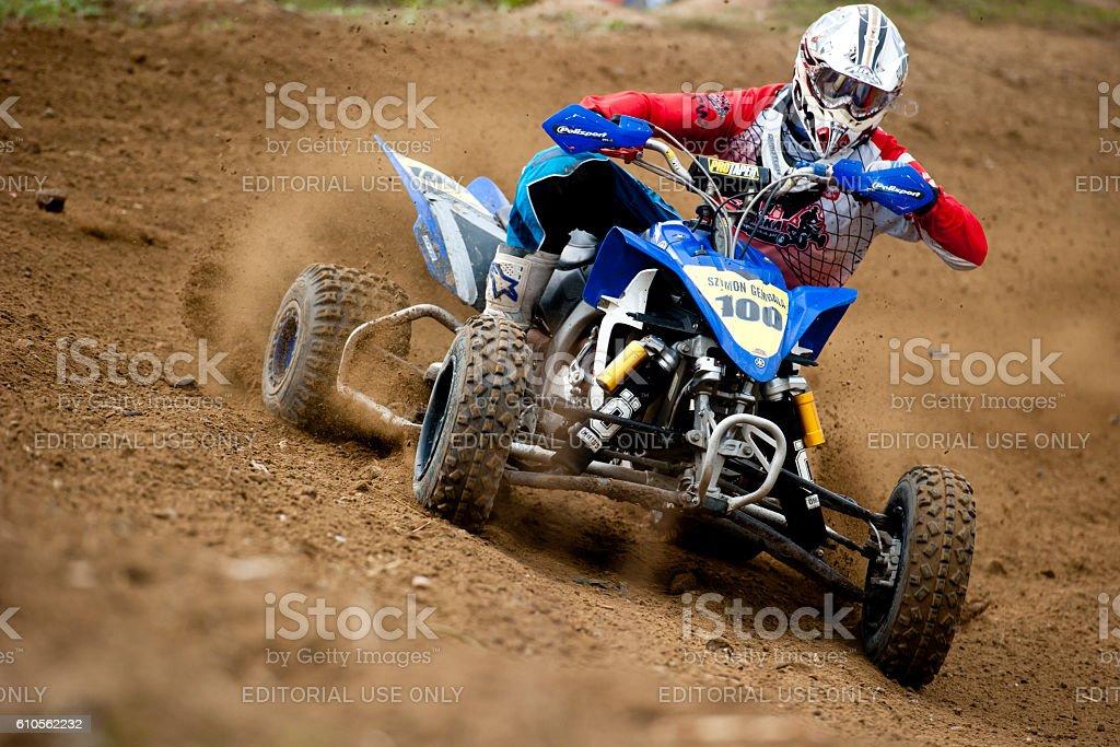 ATV Rider Race stock photo