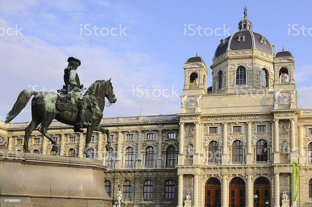 Rider Sculpture in Museum Quarter of Vienna stock photo