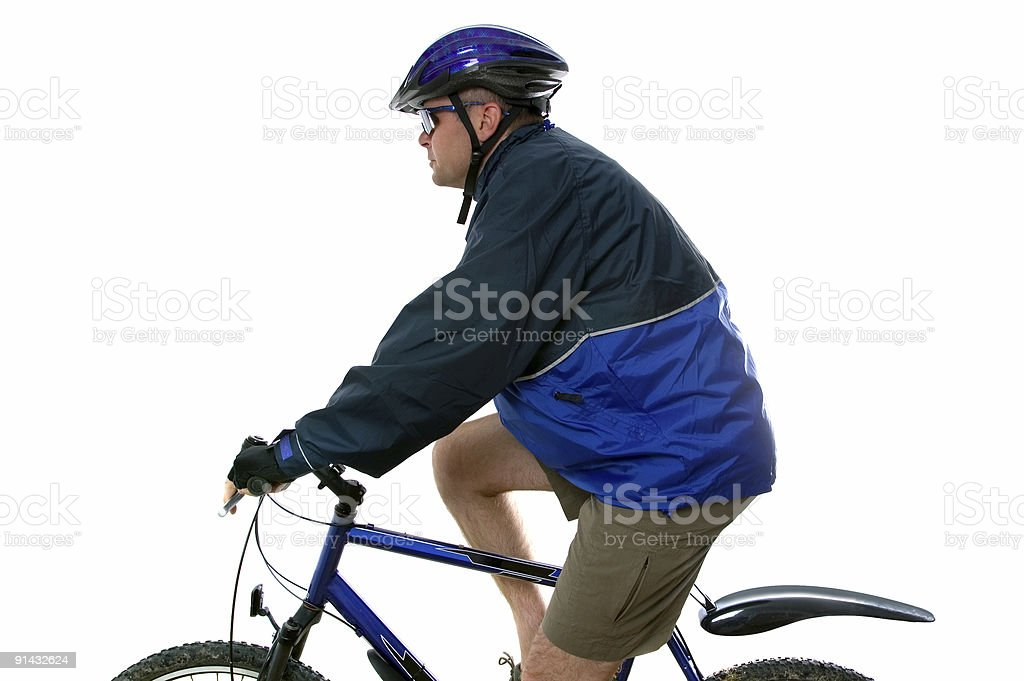MTB rider side view royalty-free stock photo