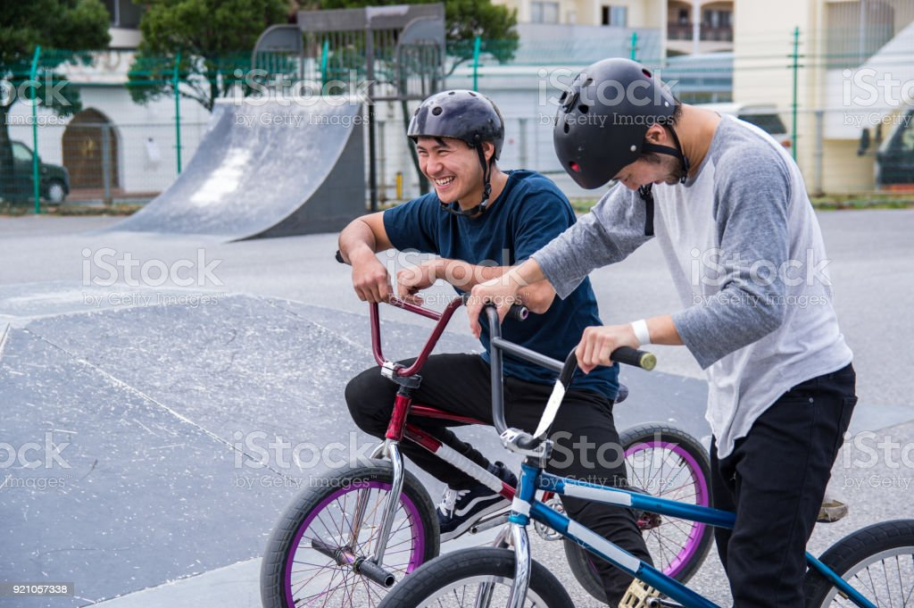 BMX Rider,Japan,Okinawa stock photo