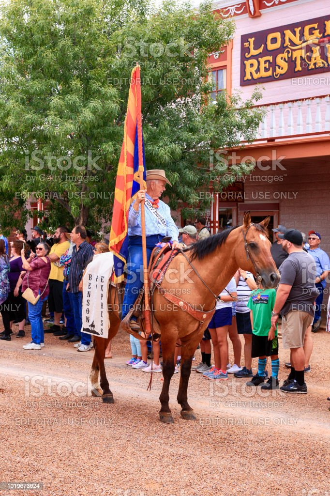 Riders of the Pony Express at the annual Doc Holiday parade in...