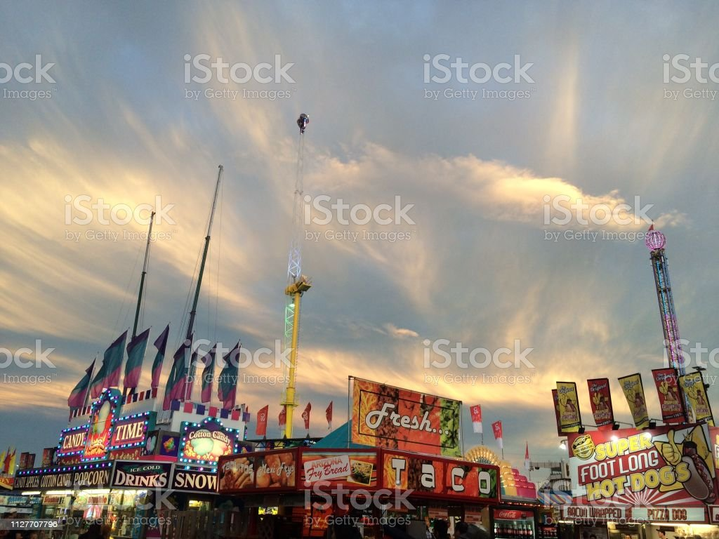 Rides At Calgary Stampede Festival In Canada Stock Photo