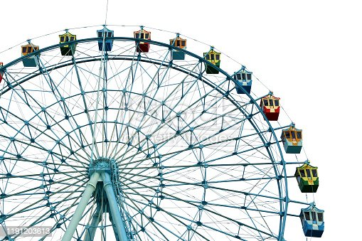 Rides ferris wheel_white background,cutout,isolated
