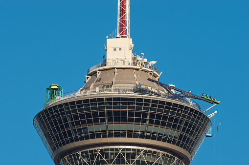 Rides On Top Of The Stratosphere Hotel In Las Vegas Usa Stock Photo Download Image Now Istock