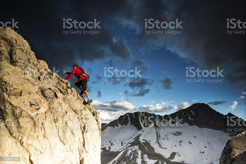 ridge climb royalty-free stock photo