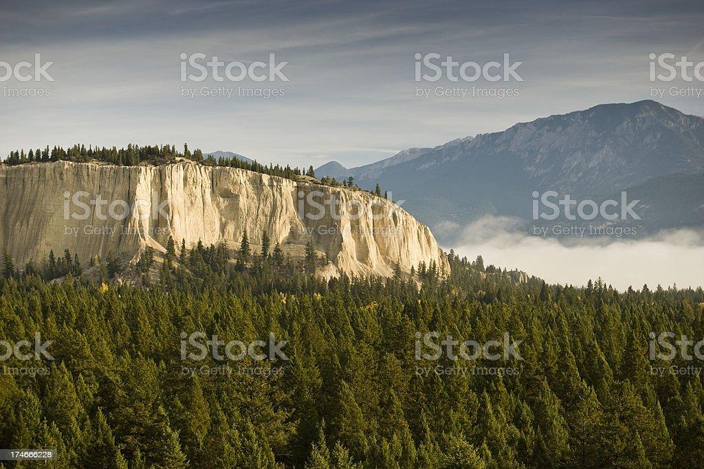 Ridge in Kootenay National Park stock photo