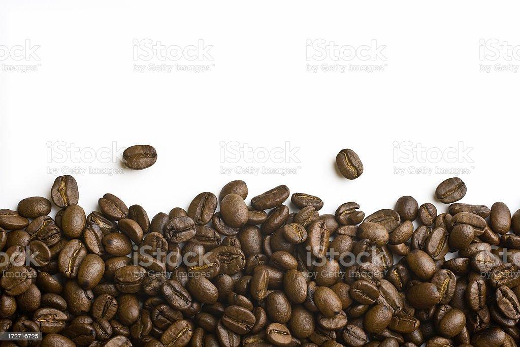 Ridge of coffee beans royalty-free stock photo