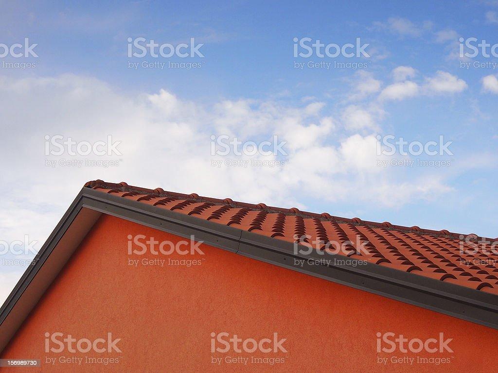 ridge of the roof stock photo