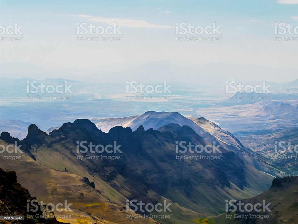 Ridge On Steens Mt. royalty-free stock photo