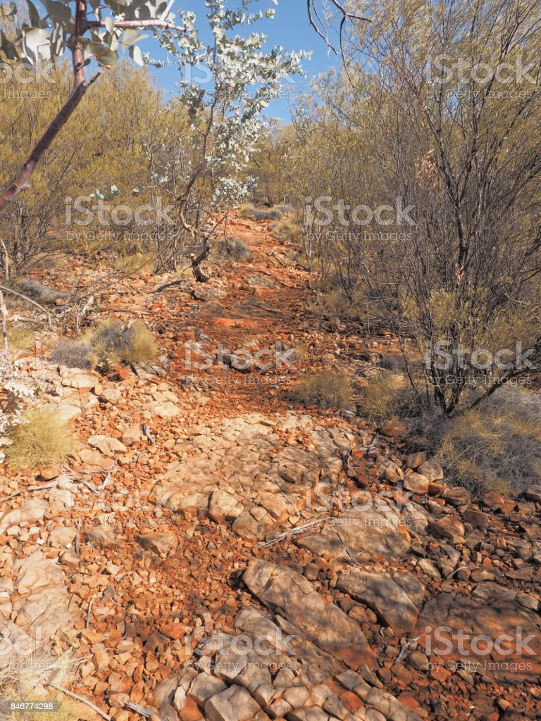 Ridge walk to Turners Lookout at Trephina Gorge national park stock photo