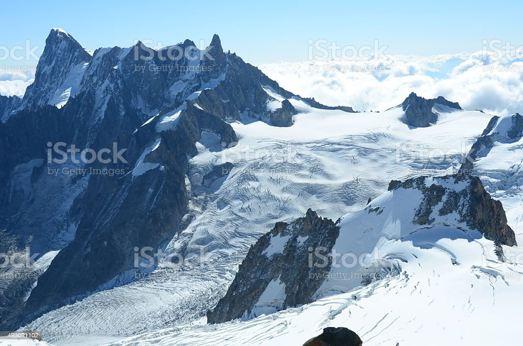 Ridges and Glaciers stock photo