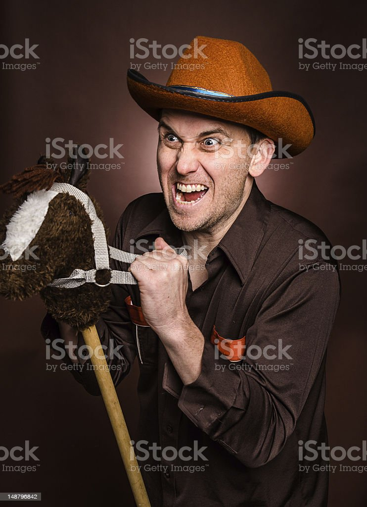 Ridiculous Cowboy royalty-free stock photo