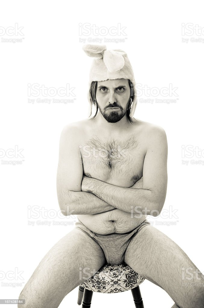 Ridiculous rabbit royalty-free stock photo